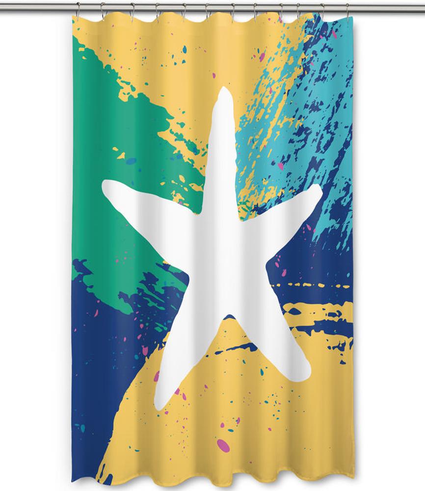 Bimini Starfish Shower Curtain   Island Girl Home   SC153