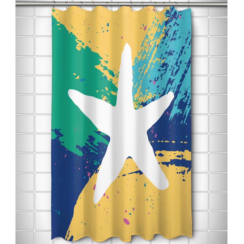 Bimini Starfish Shower Curtain   Island Girl Home   SC153 -2