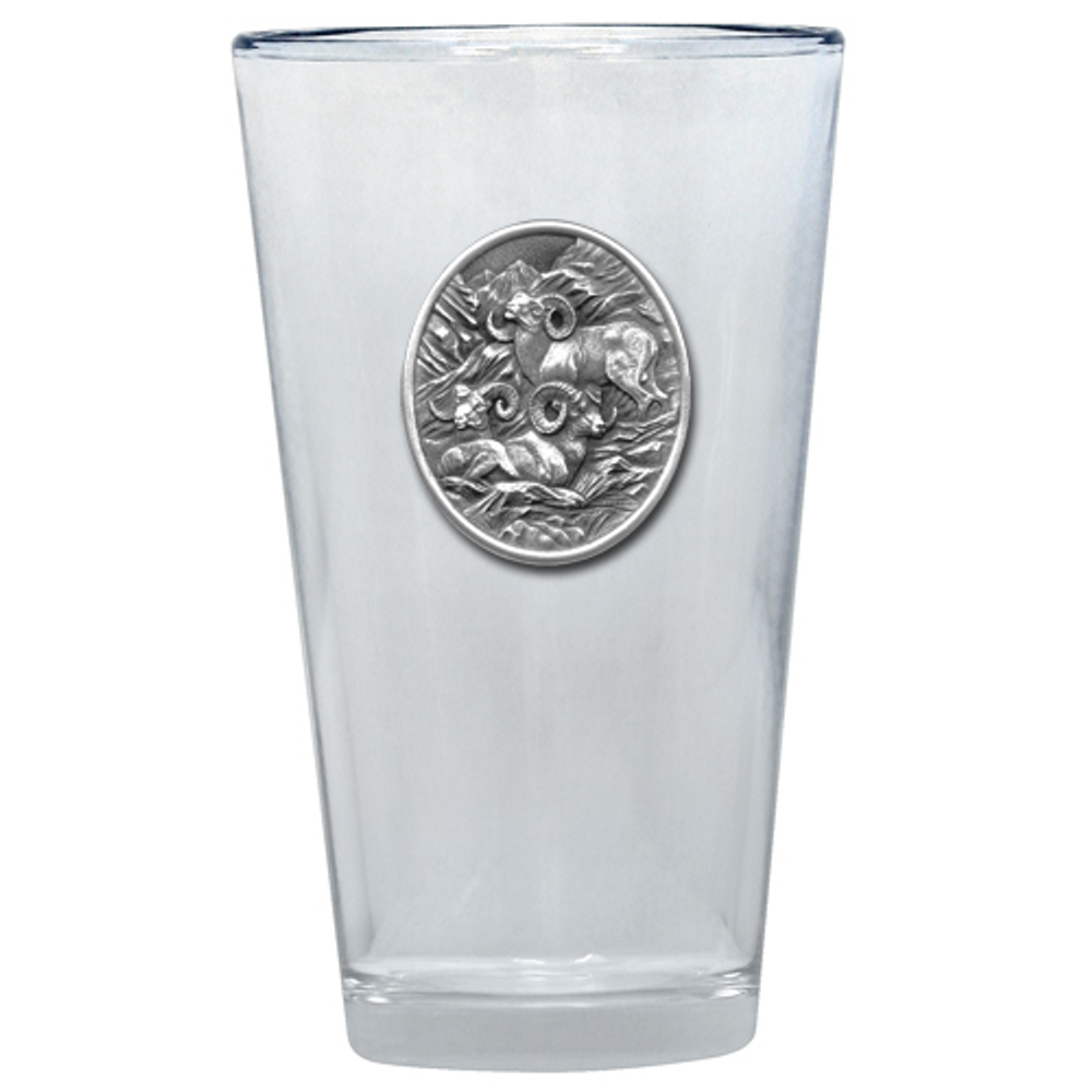 Big Horn Sheep Pint Glass Set of 2 | Heritage Pewter | PNT220