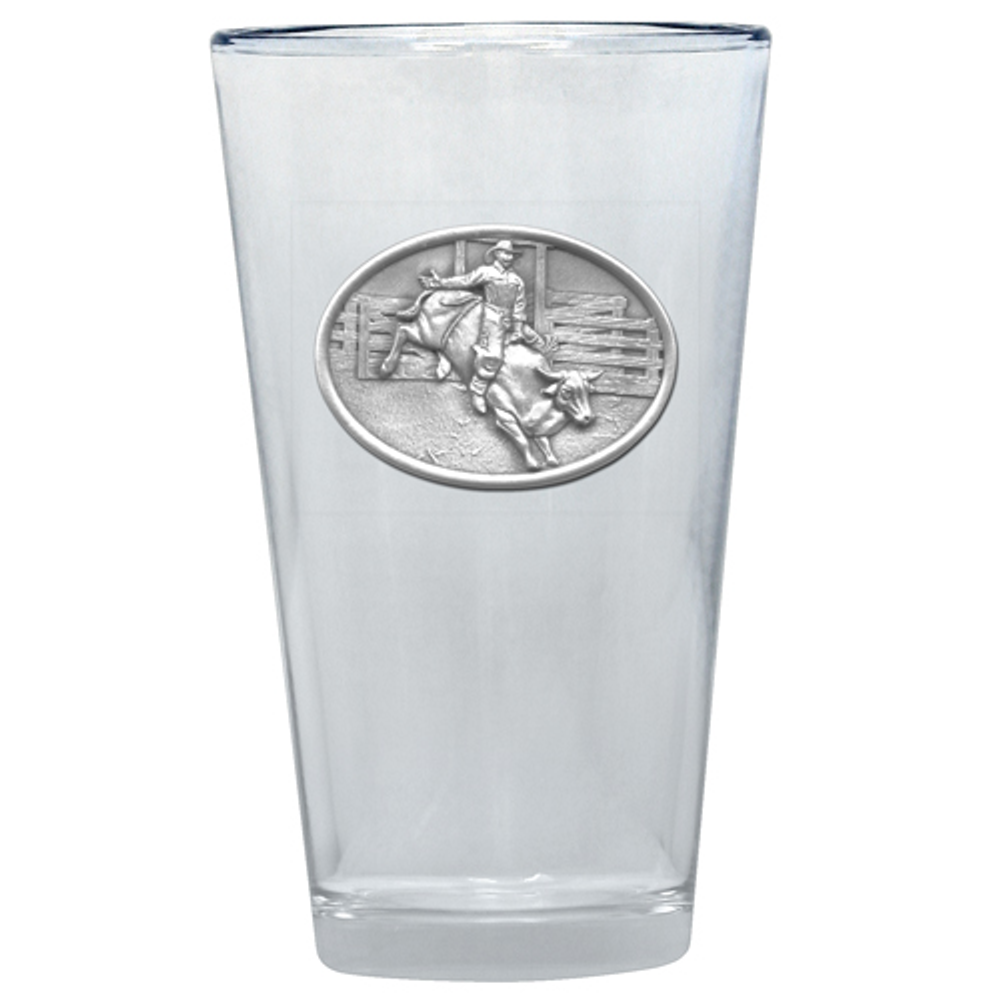 Bullrider Pint Glass Set of 2 | Heritage Pewter | PNT4246