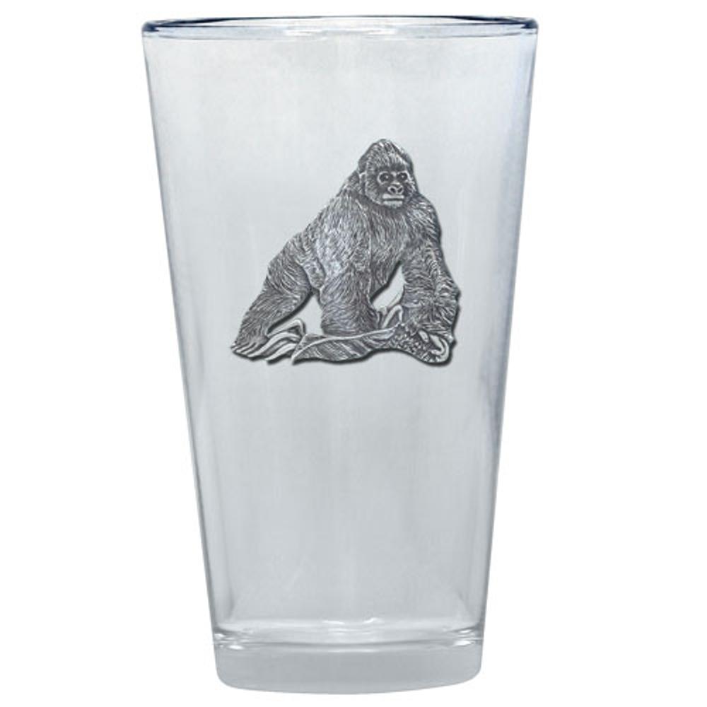 Gorilla Pint Glass Set of 2 | Heritage Pewter | PNT3998