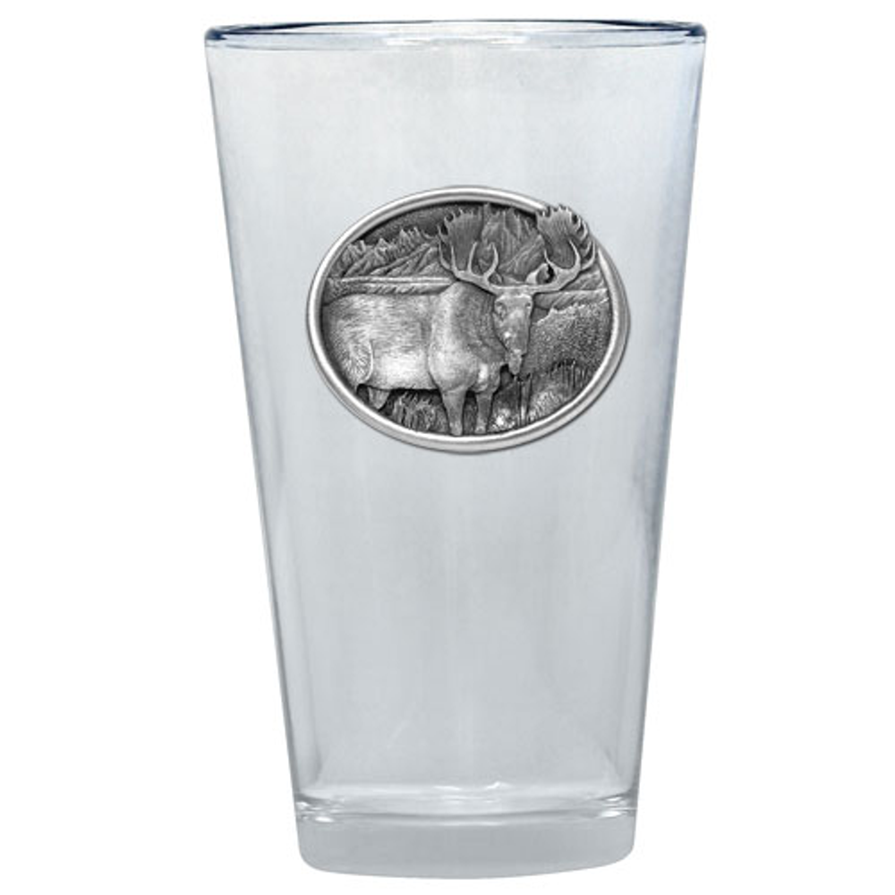 Moose Pint Glass Set of 2 | Heritage Pewter | PNT403