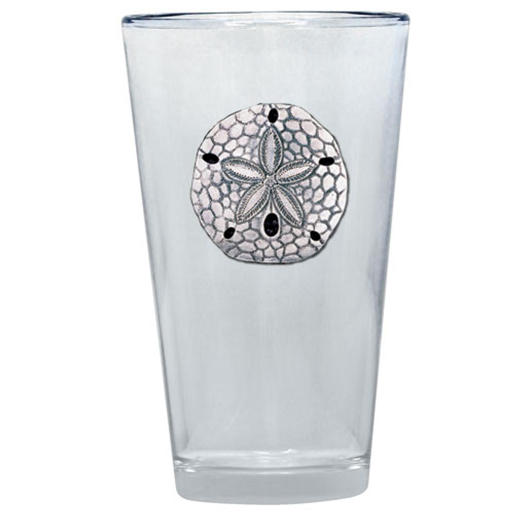 Sand Dollar Pint Glass Set of 2 | Heritage Pewter | PNT3300