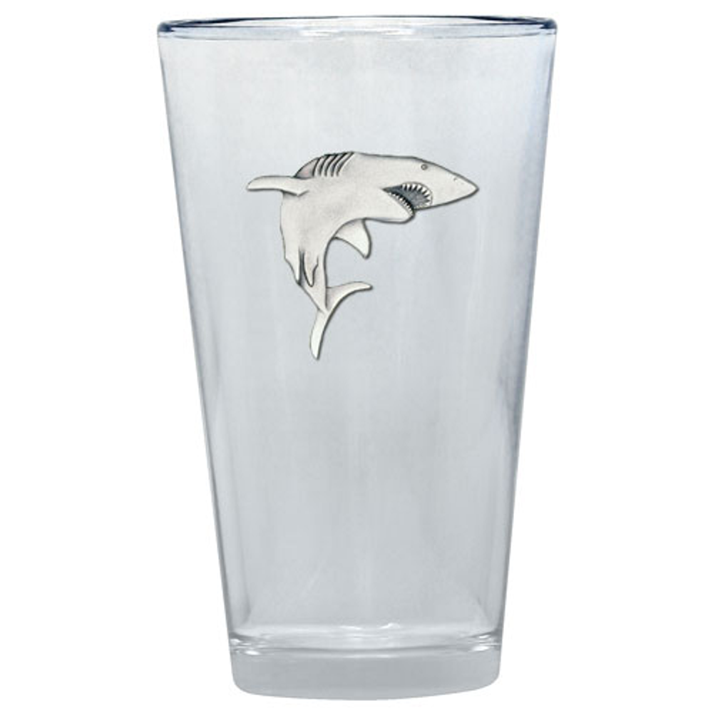 Shark Pint Glass Set of 2 | Heritage Pewter | PNT3350