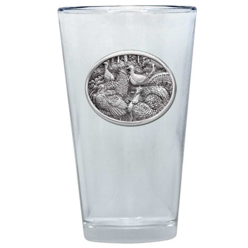 Turkey Pint Glass Set of 2 | Heritage Pewter | PNT424