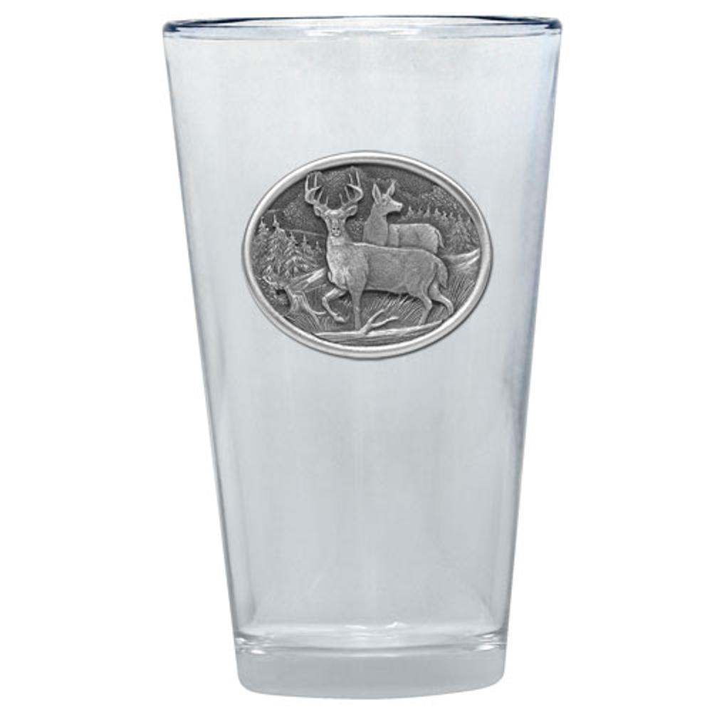 Whitetail Deer Pint Glass Set of 2 | Heritage Pewter | PNT414