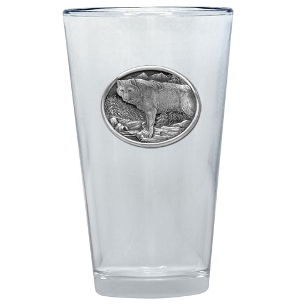 Wolf Pint Glass Set of 2 | Heritage Pewter | PNT402