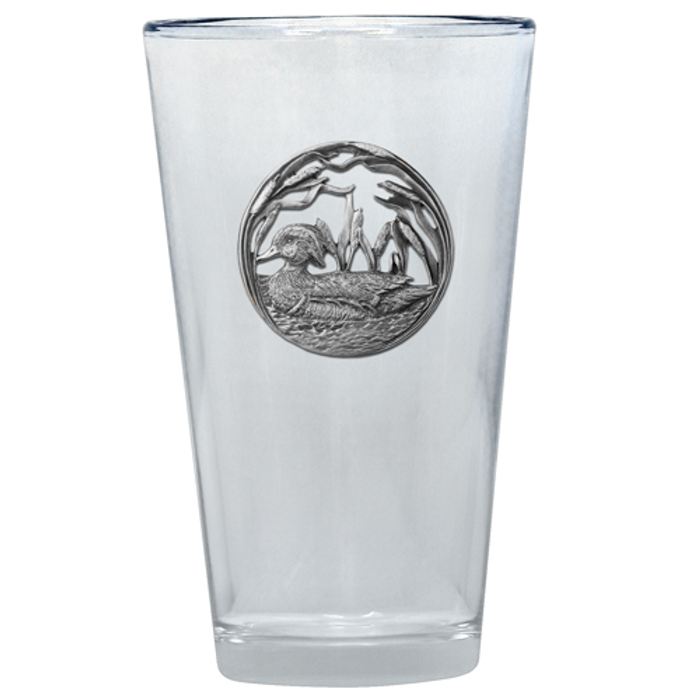 Wood Duck Glass Set of 2 | Heritage Pewter | PNT4085