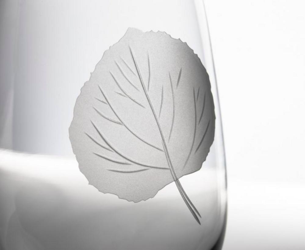 Aspen Leaf AP Large Wine Glass Set of 4 | Rolf Glass | 702261