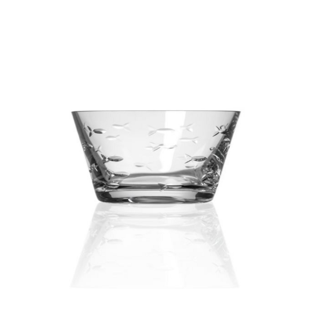 Fish Engraved Glass Bowl Set of Four | Rolf Glass | 600215