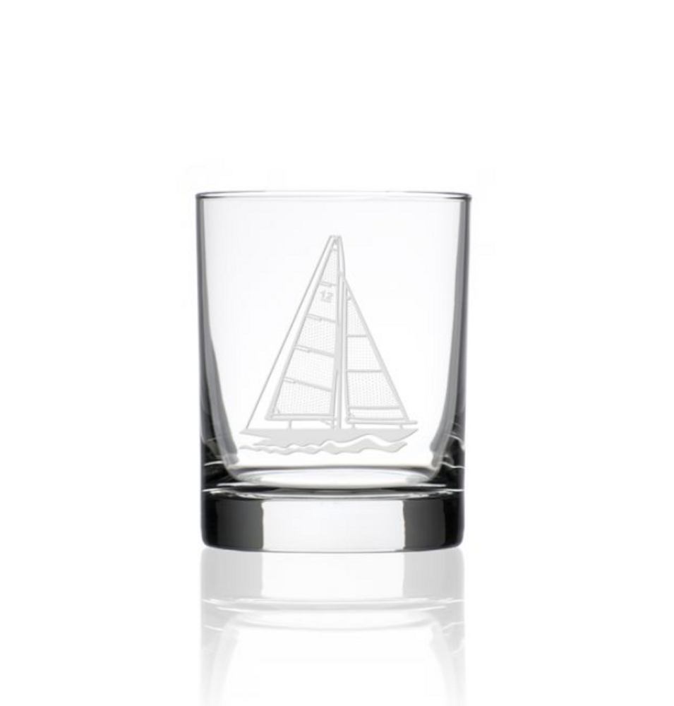 Sailboat Double Old Fashioned Glass Set of 4 | Rolf Glass | 222004