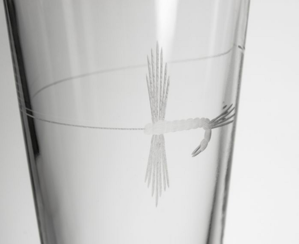 Fly Fishing Pint Beer Glass Set of 4 | Rolf Glass | 410074