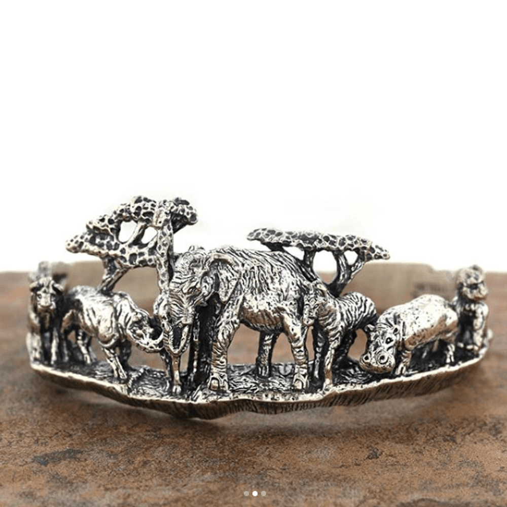 Animal Kingdom Sterling Silver Cuff Bracelet | Kabana | BR199