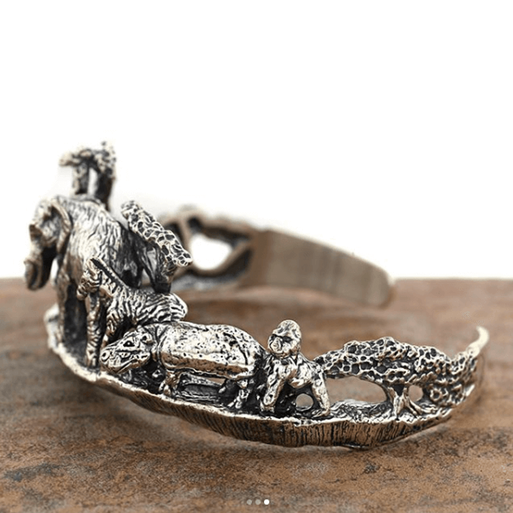 Animal Kingdom Sterling Silver Cuff Bracelet | Kabana | BR199 -2