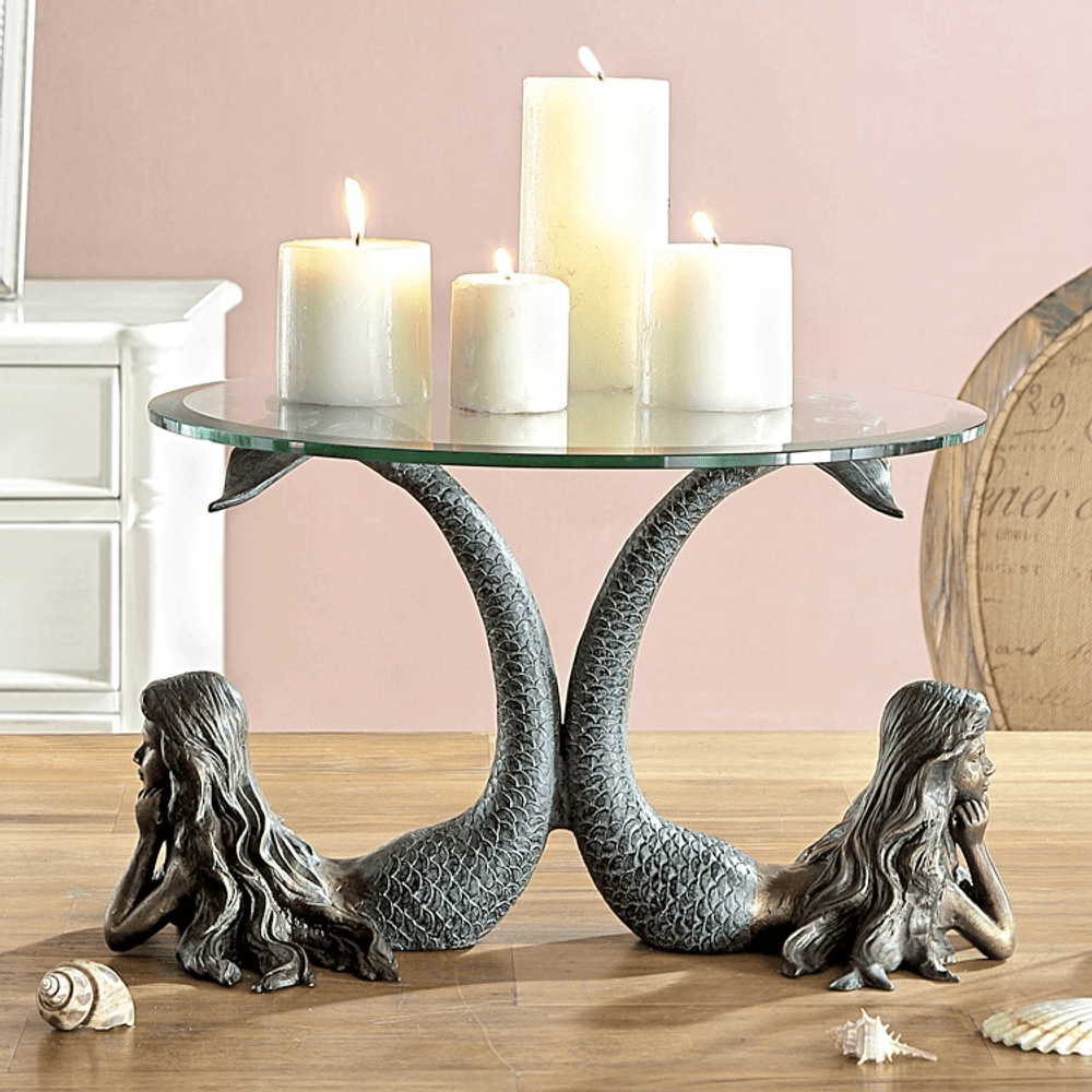 Mermaid Pair Candle Holder   SPI Home   34736