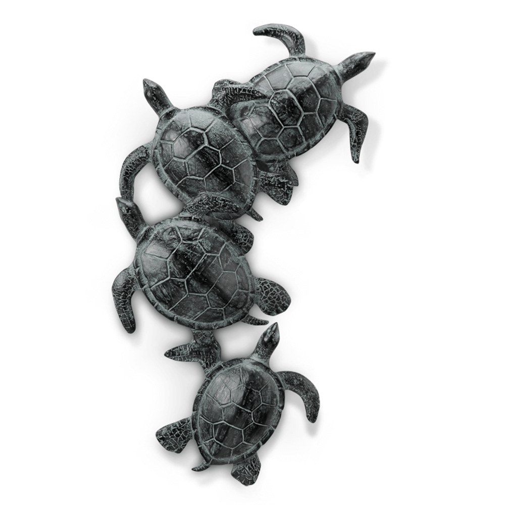 Sea Turtle Quartet Wall Art | SPI Home | 34759