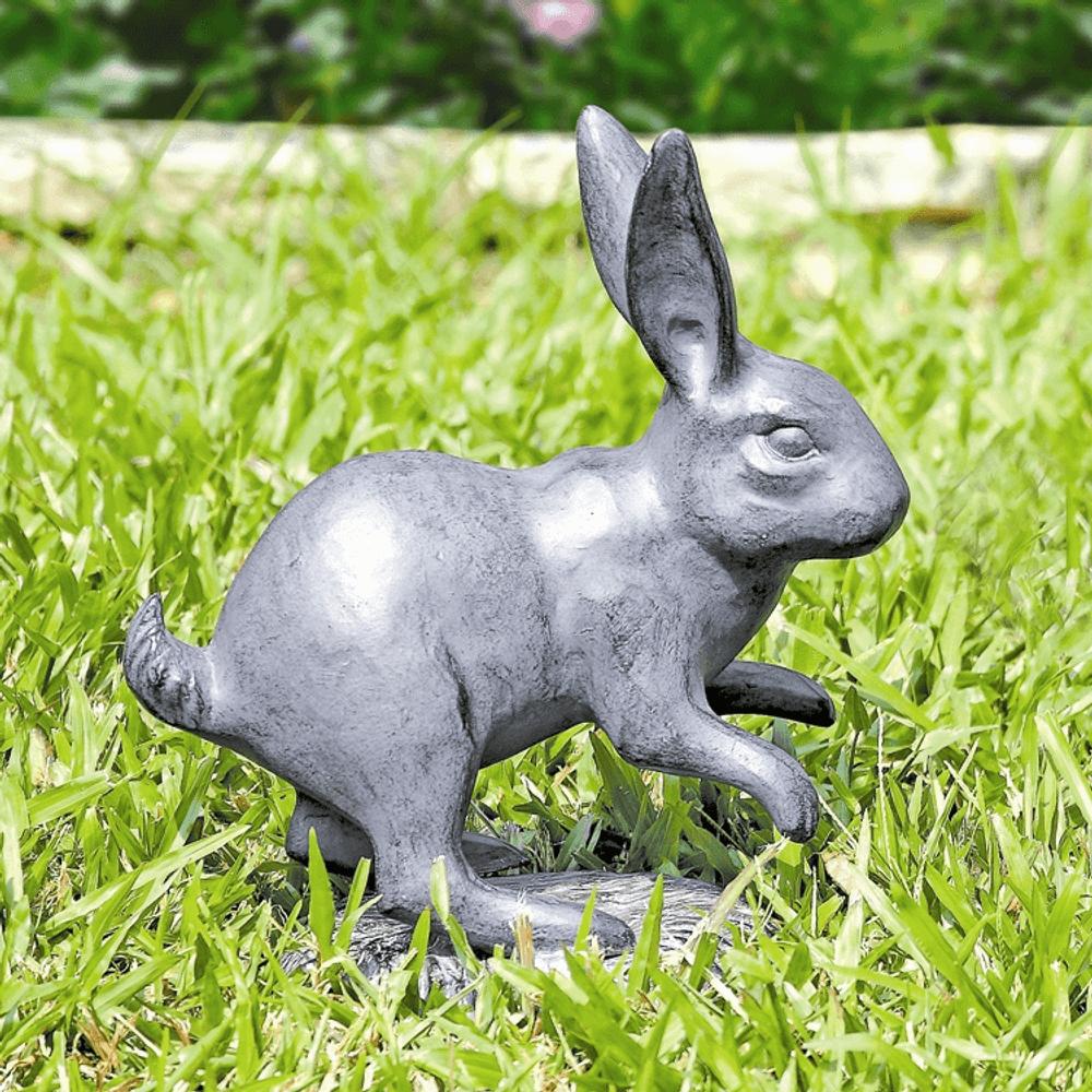 Rabbit Skipping Garden Sculpture | SPI Home | 34767