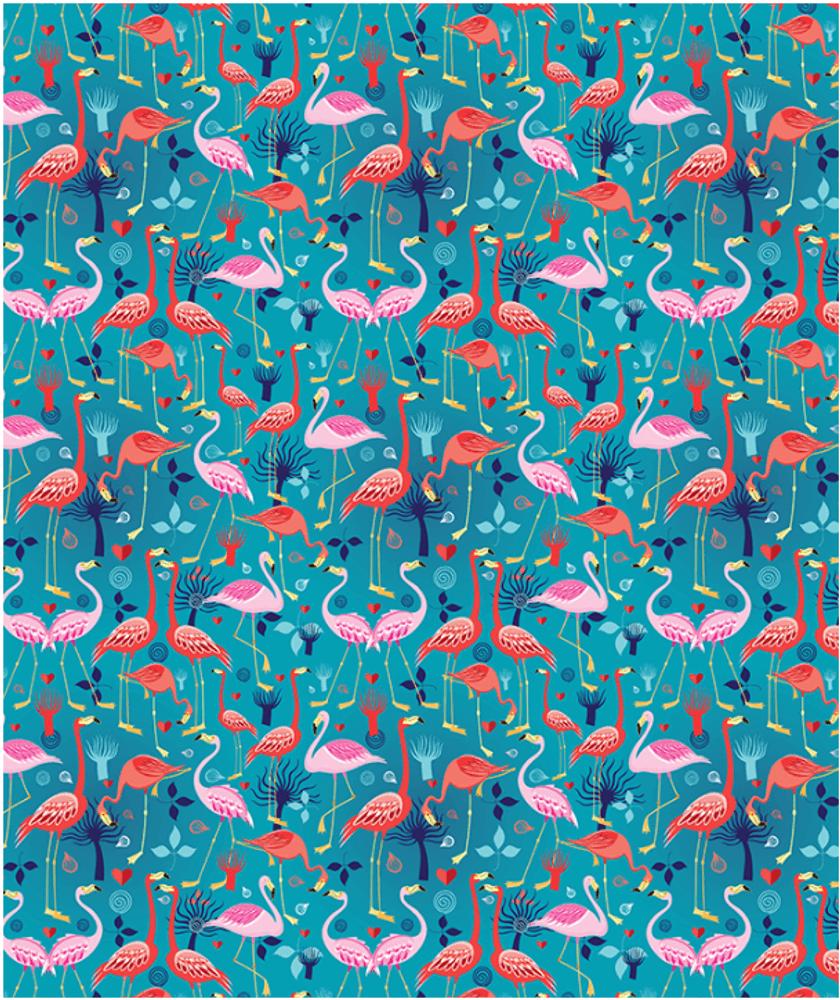 Coral Cobalt Fleece Throw Blanket | Island Girl Home | THR72 -2