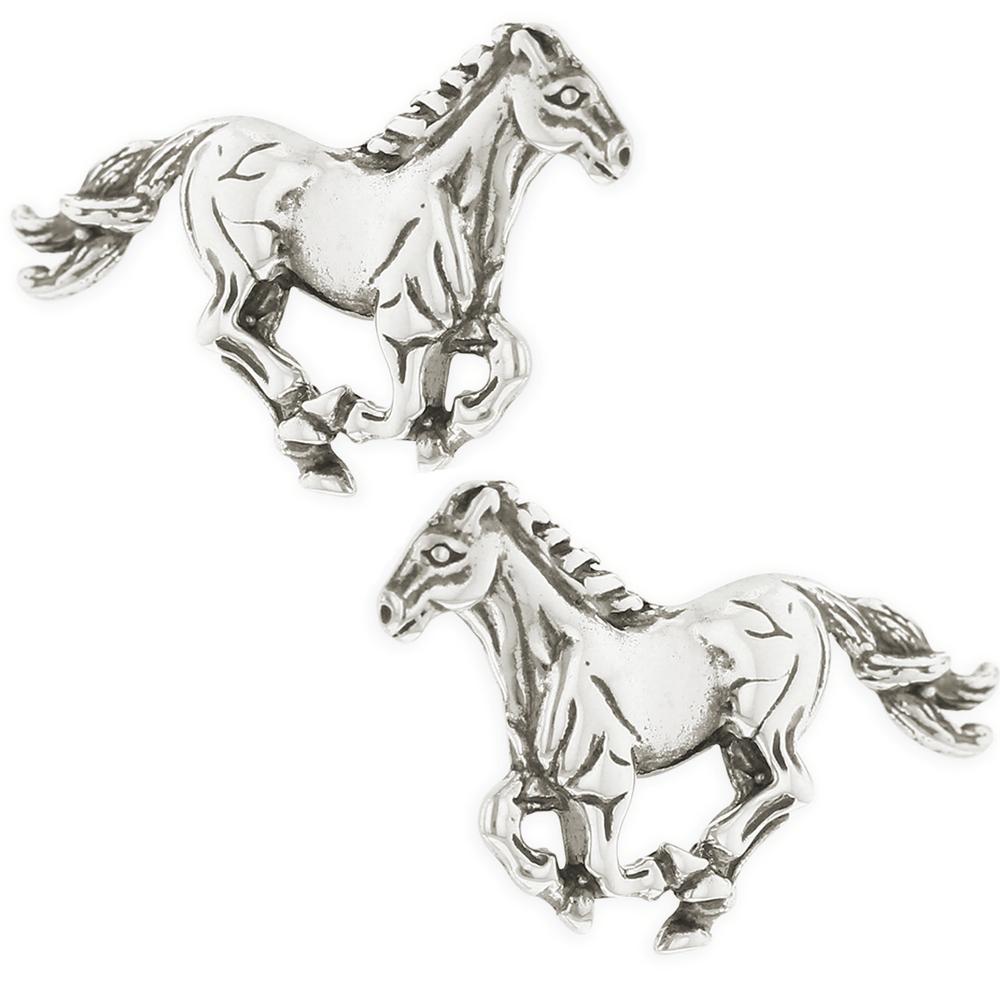 Horse Sterling Silver Post Earrings | Kabana | E654