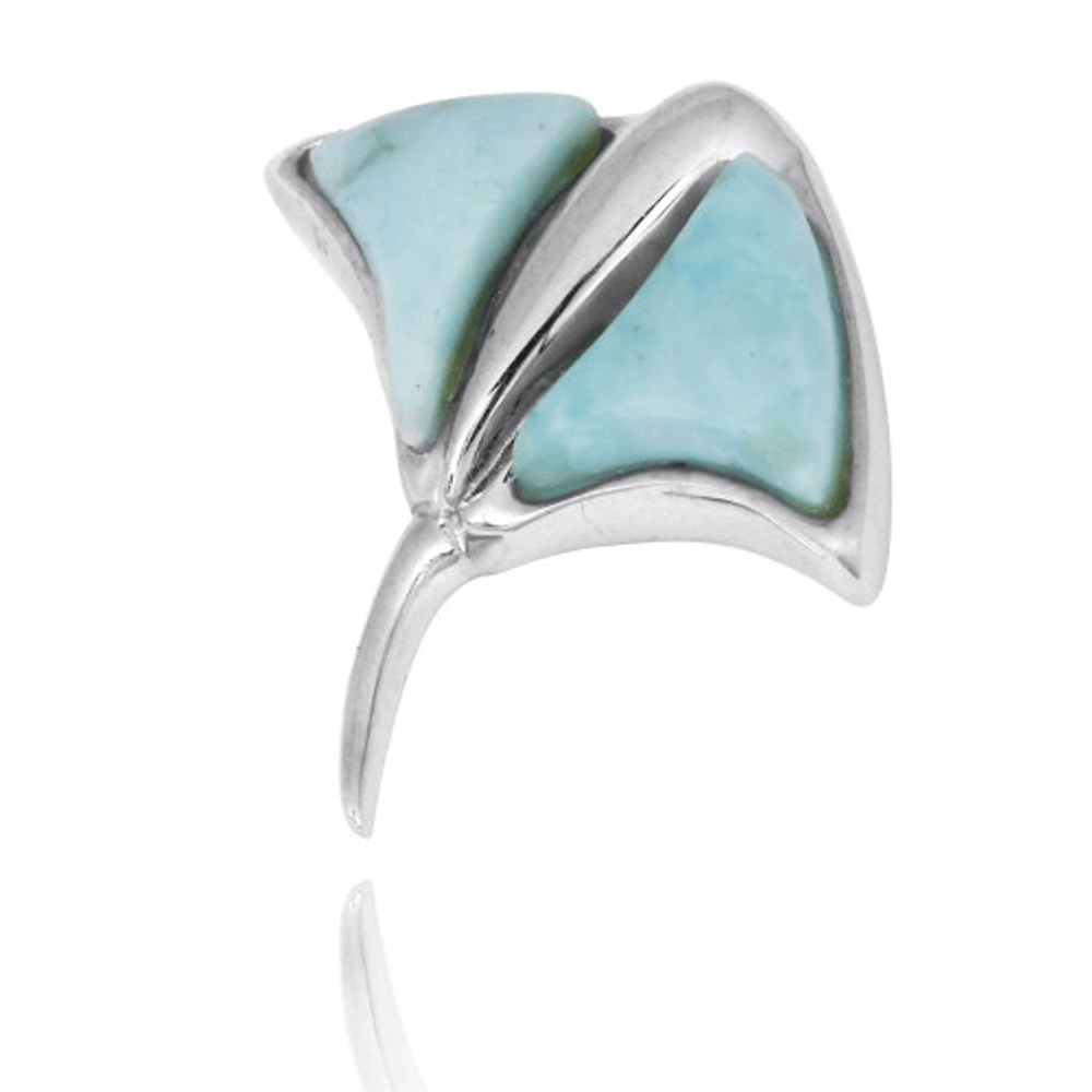 Stingray Sterling Silver Larimar Pendant Necklace | Beyond Silver Jewelry | NP10917-LAR