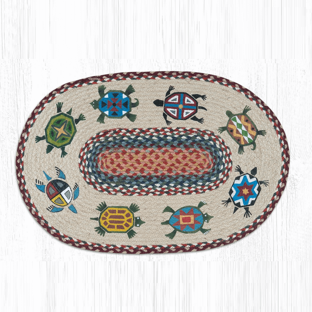 Turtle Oval Braided Rug   Capitol Earth Rugs   OP-332