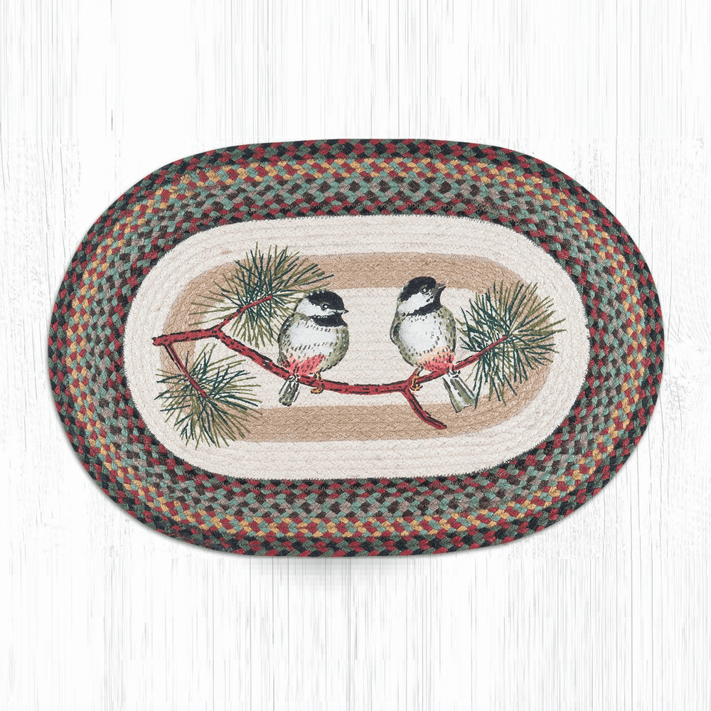 Chickadee Oval Braided Rug | Capitol Earth Rugs | OP-081