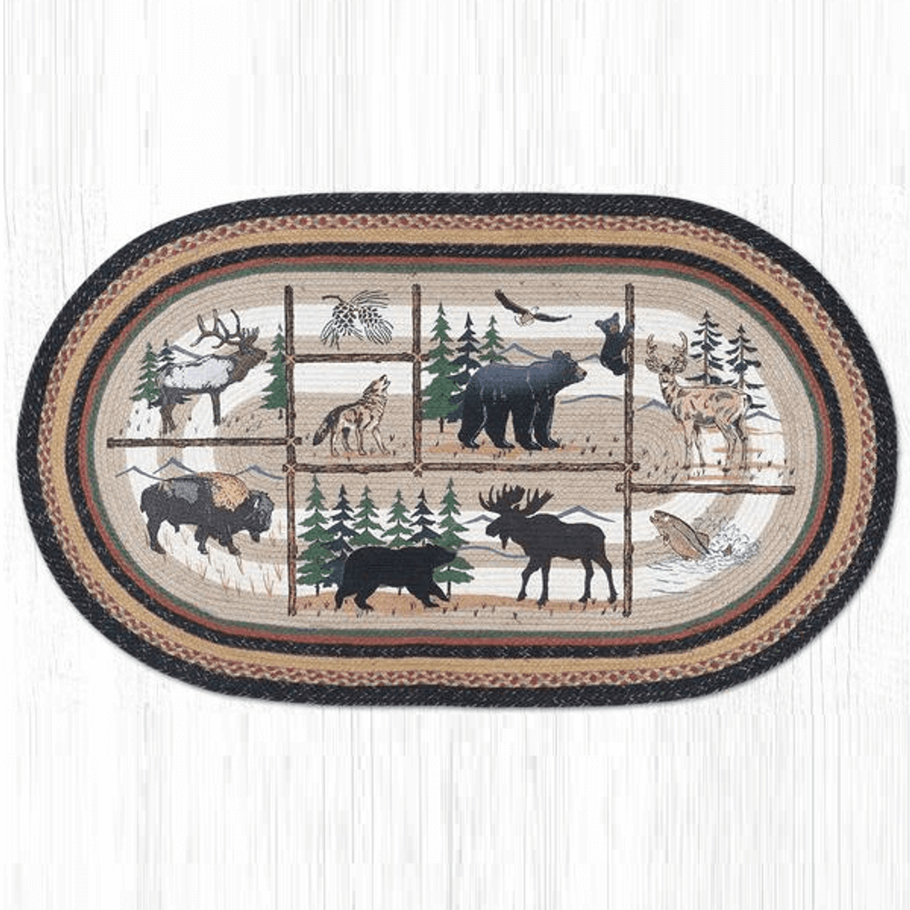 Lodge Oval Braided Rug   Capitol Earth Rugs   OP-583