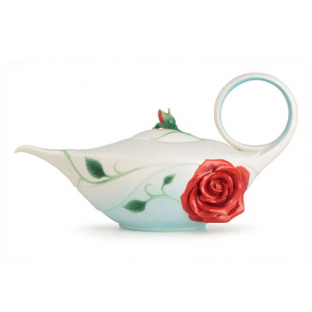 Romance of the Rose Porcelain Teapot | FZ02645 | Franz Collection