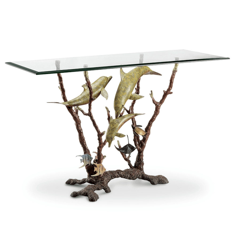 Dolphin Trio Console Table | 80358-2 | SPI Home