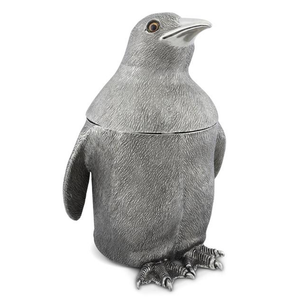 Penguin Pewter Ice Bucket   Vagabond House   VHCO103PN