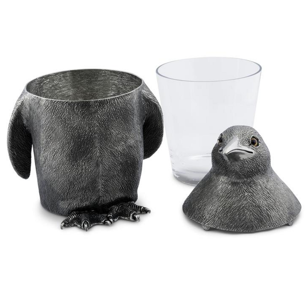 Penguin Pewter Ice Bucket   Vagabond House   VHCO103PN-2