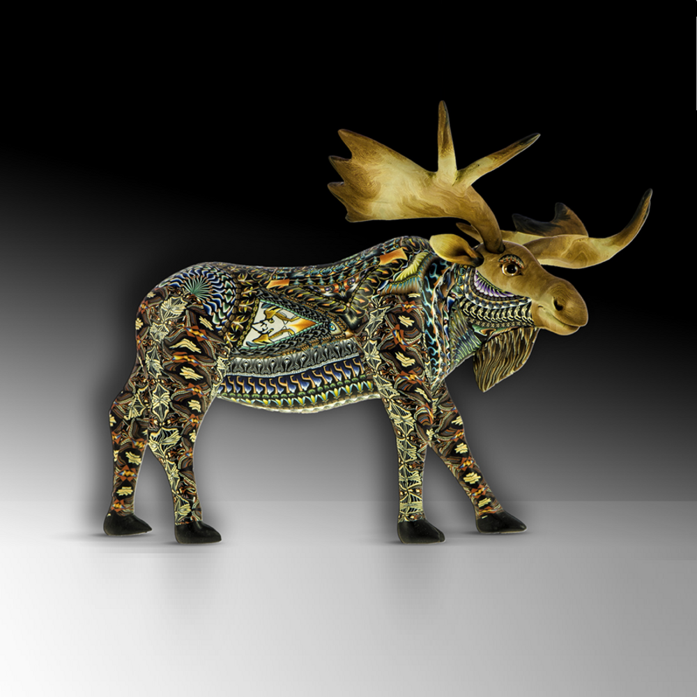 Moose Mama Figurine    FimoCreations   FCFMM
