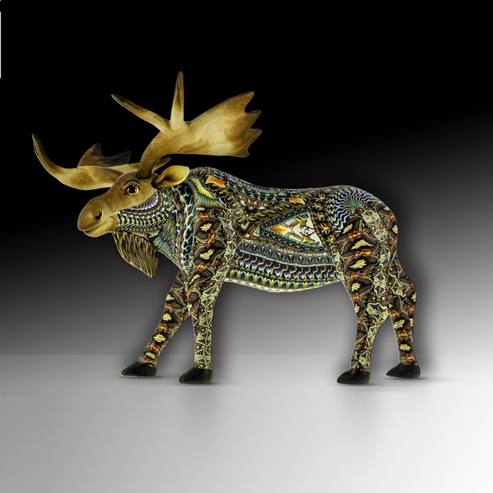 Moose Papa Figurine |  FimoCreations | FCFMP