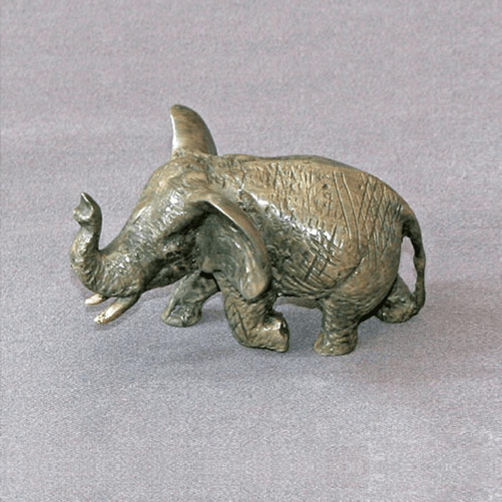 Elephant Bronze Baby Sculpture | Barry Stein | BBSSMALLELEBABY1