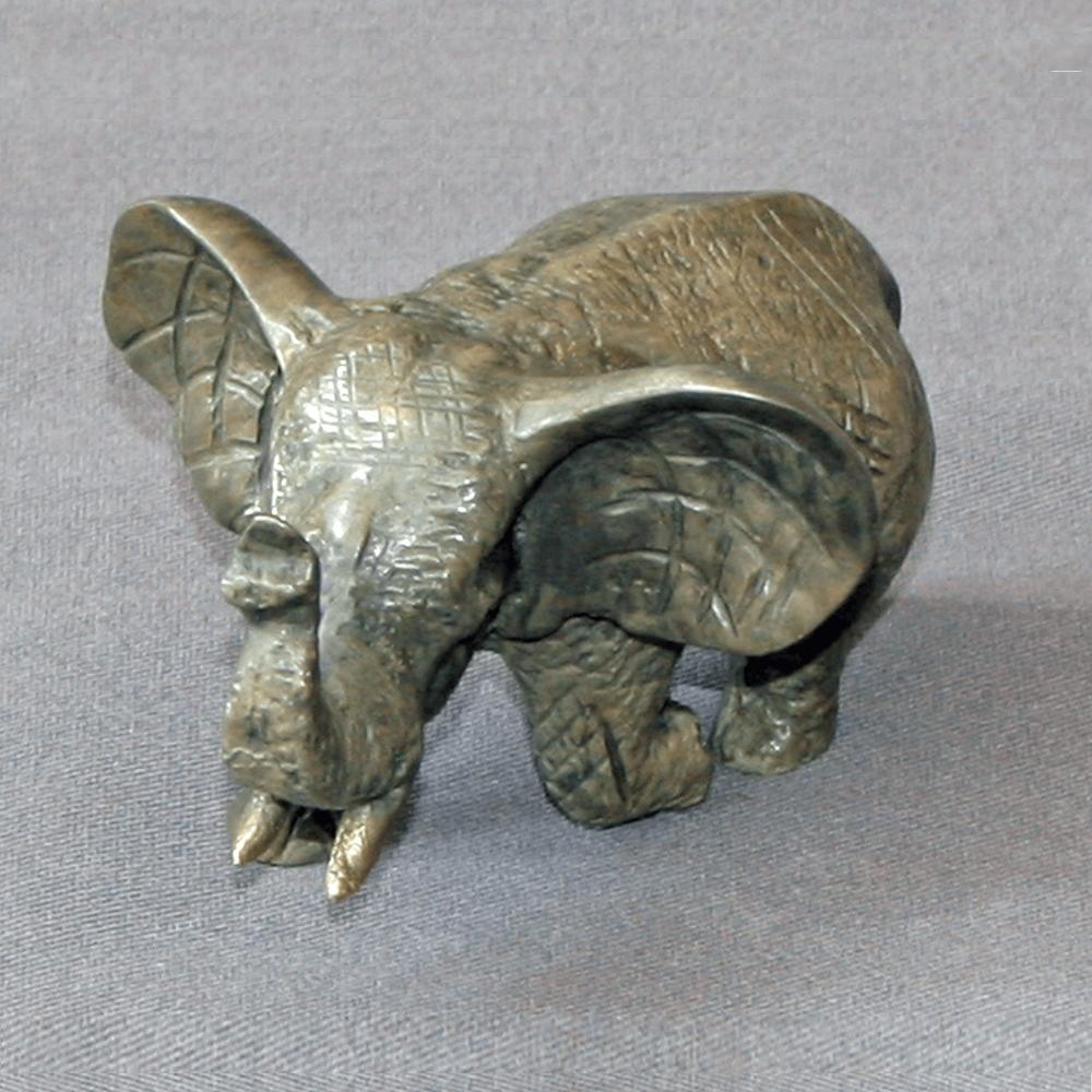 Elephant Bronze Baby Sculpture | Barry Stein | BBSSMALLELEBABY1-4