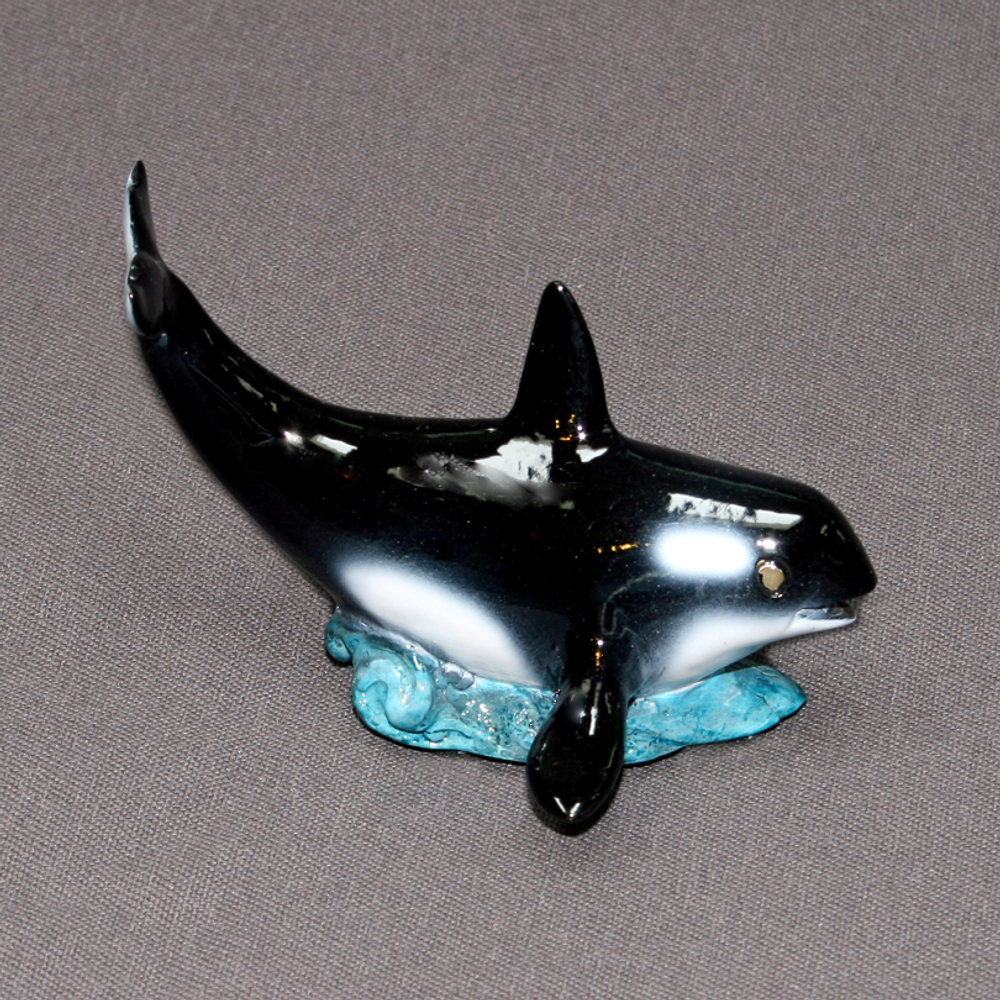 Orca Whale Baby Bronze Sculpture   Barry Stein   BBSORCABABY-2