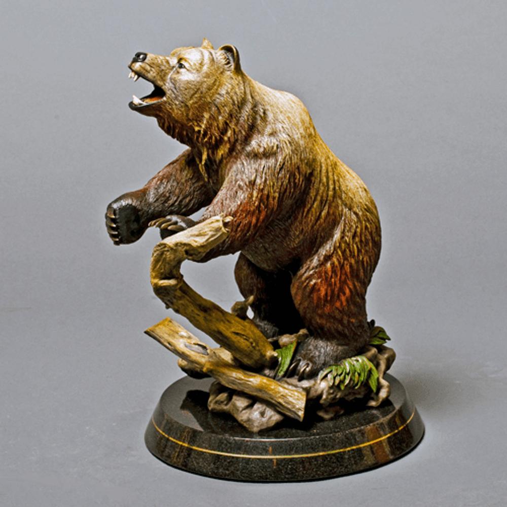 """Bear Bronze Sculpture """"Terrain""""   Barry Stein   BBSBEARTERRIAN"""