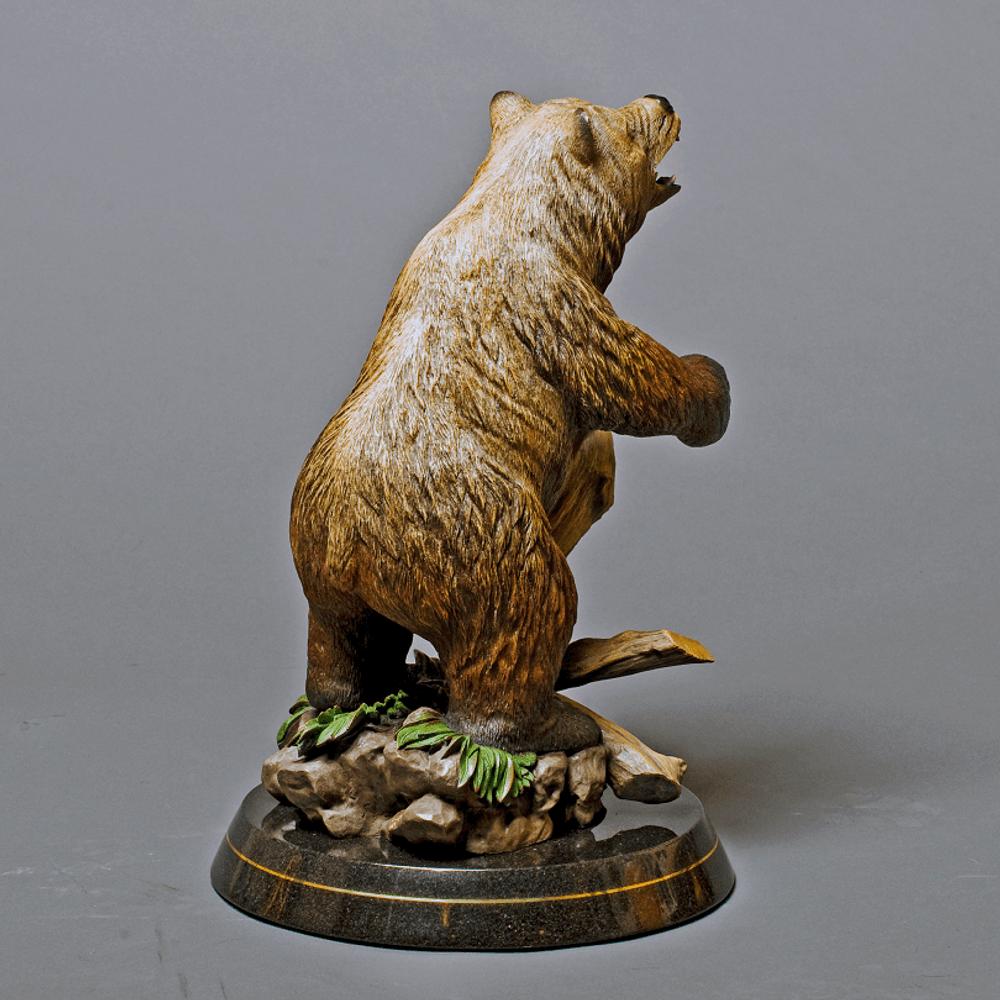 """Bear Bronze Sculpture """"Terrain""""   Barry Stein   BBSBEARTERRIAN-4"""
