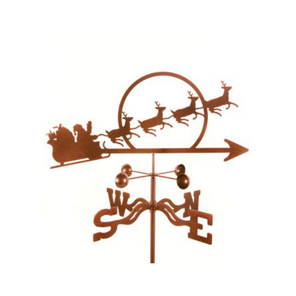 Santa with Reindeer Weathervane   EZ Vane   ezvsanta