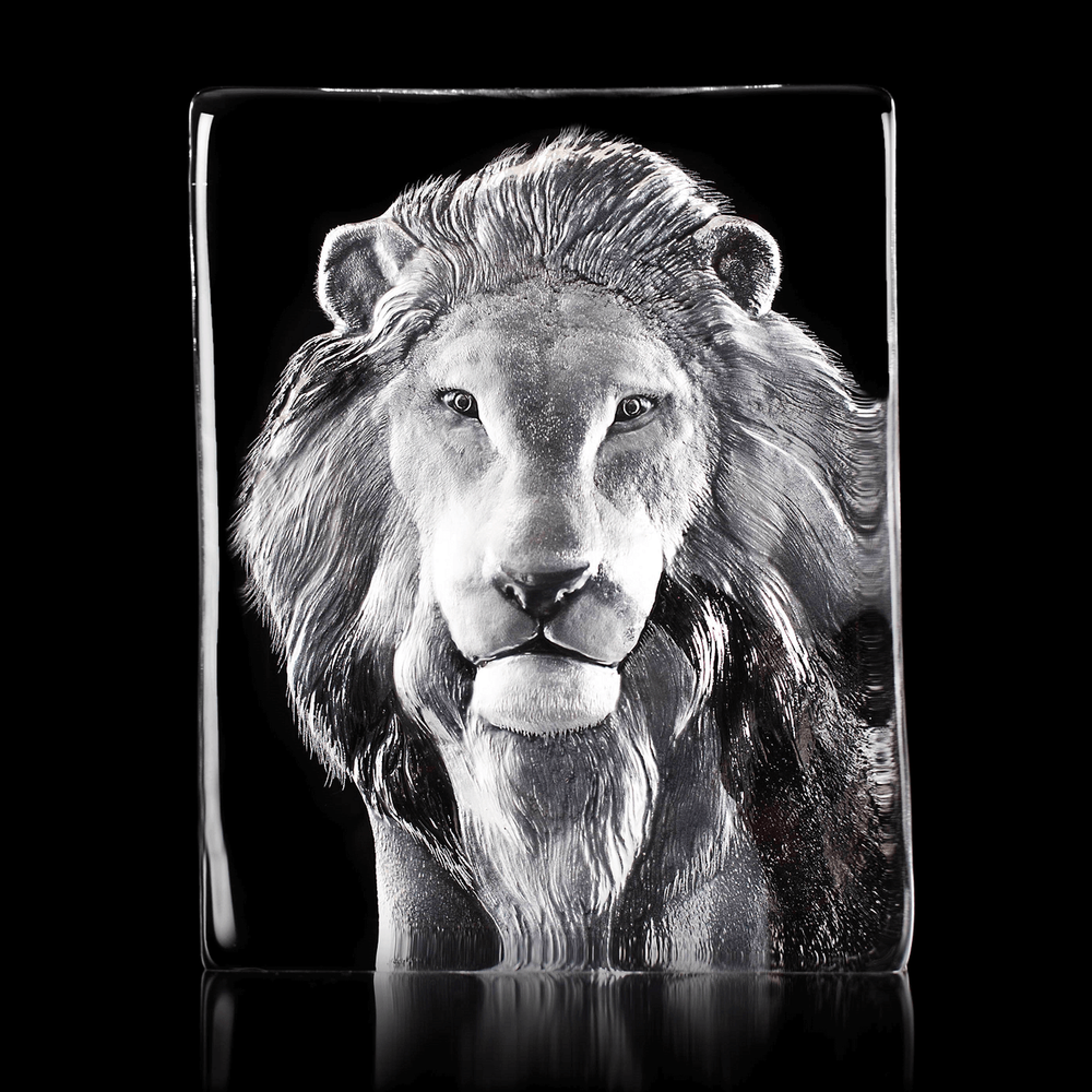Lion Crystal Sculpture   34127   Mats Jonasson Maleras