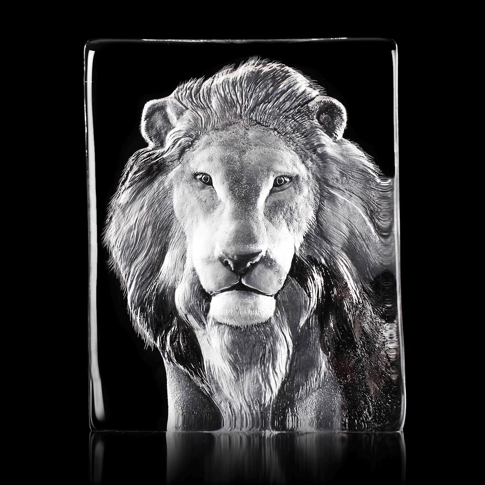 Lion Crystal Sculpture | 34127 | Mats Jonasson Maleras