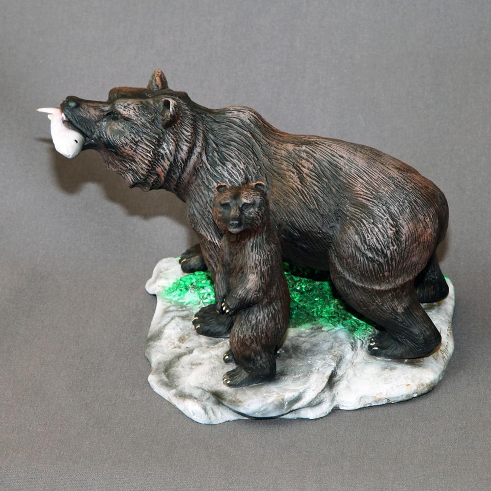 "Bear Bronze Sculpture ""First Lesson""   Barry Stein   BBSFIRSTLESSON-2"