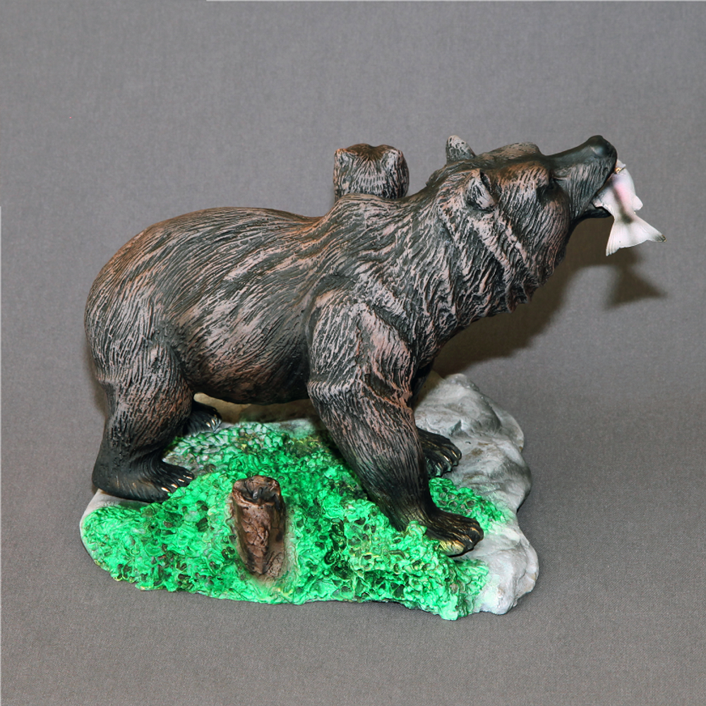 "Bear Bronze Sculpture ""First Lesson""   Barry Stein   BBSFIRSTLESSON-4"
