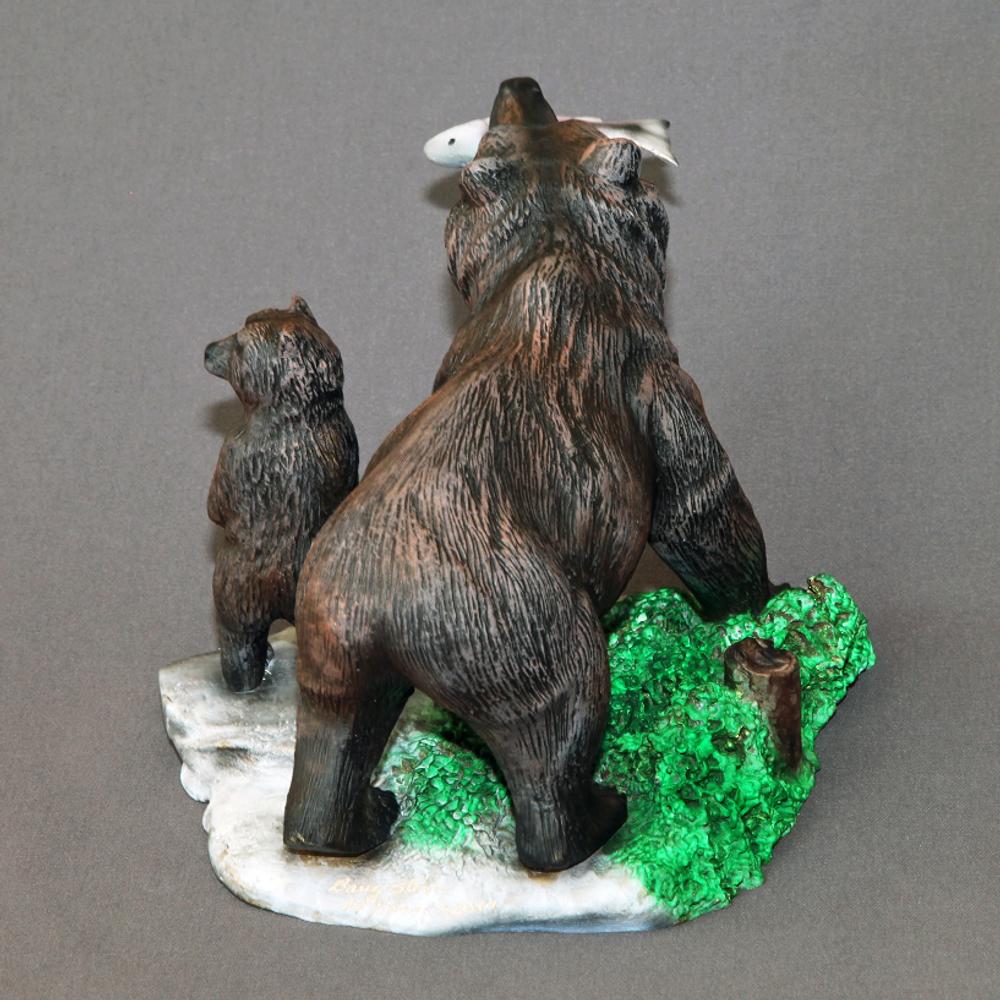 "Bear Bronze Sculpture ""First Lesson""   Barry Stein   BBSFIRSTLESSON-5"