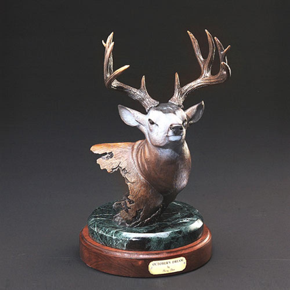 "Deer Bronze Sculpture ""October's Dream""    Barry Stein   BBSOCTOBERSDREAM"
