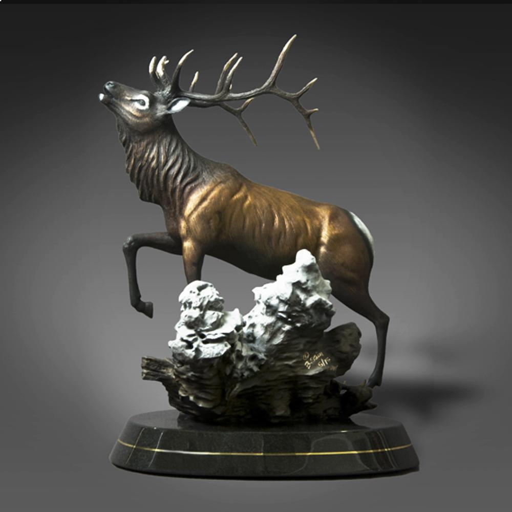 "Elk Bronze Sculpture ""Call of the Wild"" | Barry Stein | BBSCALLOFTHEWILD-2"