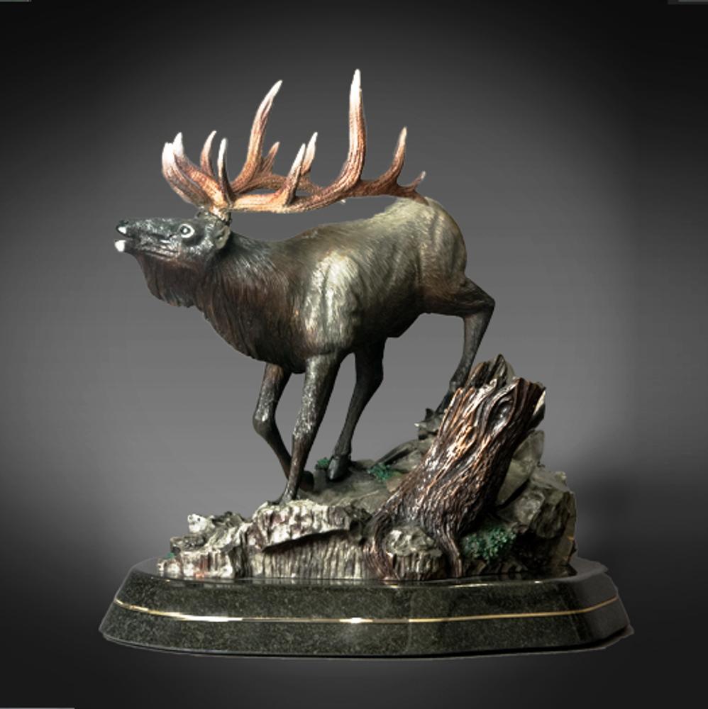 """Elk Bronze Sculpture """"Descending Monarch""""   Barry Stein   BBSDESCMONARCH-2"""