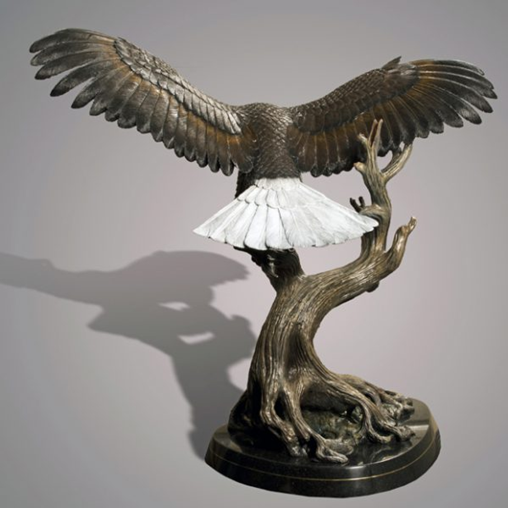 "Eagle Bronze Sculpture ""Wings of Fury"" 