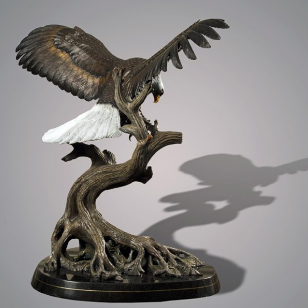Eagle Bronze Sculpture Wings Of Fury Barry Stein