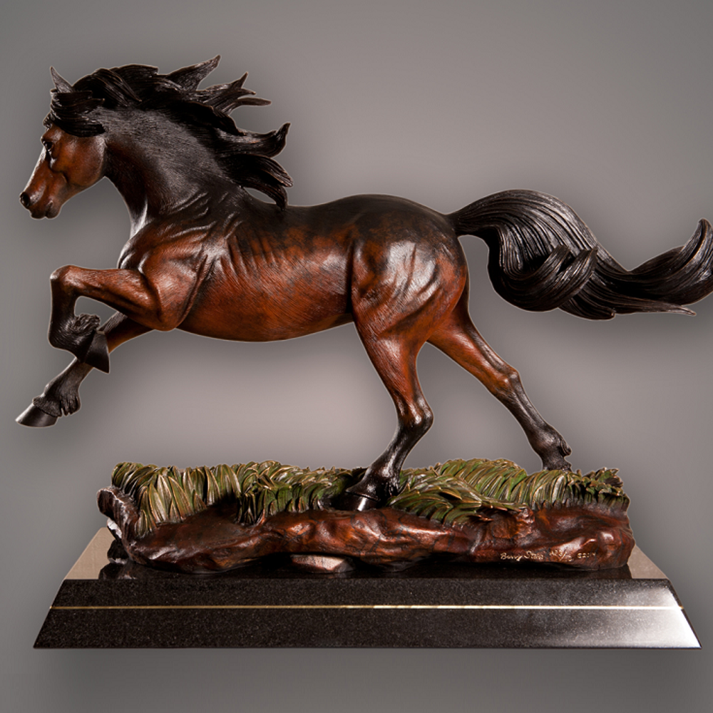 "Horse Bronze Sculpture ""Crown Royal"" 